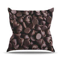 "Libertad Leal ""Yay! Chocolate"" Candy Outdoor Throw Pillow"