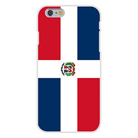 Apple iPhone 6 Custom Case White Plastic Snap On - Dominican Republic - World Country National Flags