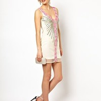 Frock and Frill V Neck Dress with Sequin Embellishment at asos.com