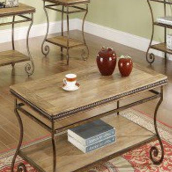 Riverside Furniture Penn Manor Cocktail Table in Distressed Weathered Oak - 17402 - Accent Tables - Decor