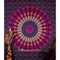 Beautiful Design Purple Round Circle Bohemian Tapestry Beach Towel
