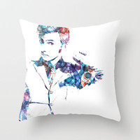 The Tenth Doctor Throw Pillow by NKlein Design   Society6