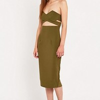 Solace Adrienne Dress in Khaki - Urban Outfitters