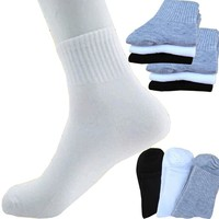 Hot Sale 10 pairs Men's socks brand high quality polyester breathable Autumn winter casual sock for men 3 colors free shipping