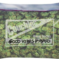 420 weed fat sack good vibes pillow
