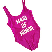 MAID OF HONOR Women's One Piece Swimsuit