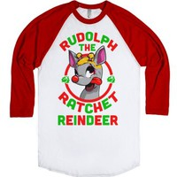 Rudolph the Ratchet Reindeer-Unisex White/Red T-Shirt