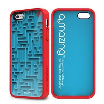 Puregear 60091PG Gamer Case for Apple iPhone 5 - 1 Pack - Retail Packaging - Blue/Red:Amazon:Cell Phones & Accessories