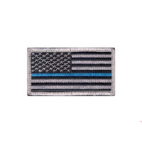 Thin Blue Line Police Flag Patch