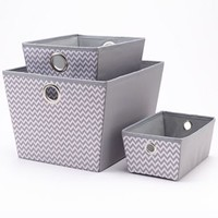 Simple by Design Chevron Storage Tote