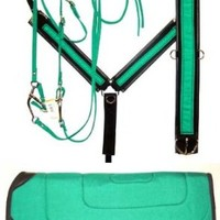 ABETTA Hot Color AIRE GRIP Tack Set - Saddle Pad, Bridle, Breast Collar and Girth