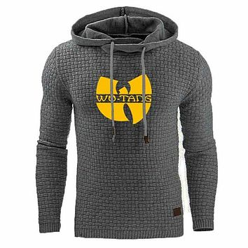 Spring Autumn Men's Hoodies Casual Sweatshirts Wu Tang Logo Long Sleeve Pullover Jacket Coats High Quality Jacquard Hoodies|Hoodies & Sweatshirts