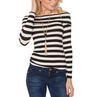 No Time To Waste Stripe Top