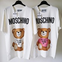 MOSCHINO Bear Print Short Sleeve Top Tagre™