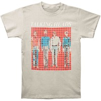 Talking Heads Men's  More Songs About Bldgs. & Food Vintage T-shirt Silver