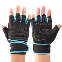 Weight Lifting Gloves Abrasion Resistant Fingerless Comfortable Gloves