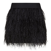 Milly Ostrich Feather Cocktail Skirt | Harrods
