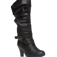 Foldover High Heeled Boots | Wet Seal!