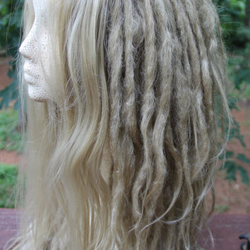 Lace-Front Dirty Blonde Synthetic Dreadlock Custom Wig * Dreads * Synthetic Dreads * Wool Dreads * Dread Extensions * Wildling * Dystopia