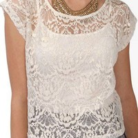 Boxy Lace Top | FOREVER 21 - 2021839634