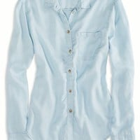 AEO Factory Women's Chambray Shirt