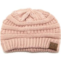 CC Thick Knit Beanie, Rose