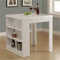 """White Hollow-Core 32""""X 36"""" Counter Height Table - Monarch Specialty I-1345"""