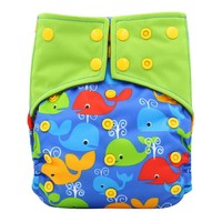 Baby Diapers Waterpoof Pul Bamboo Charcoal Ai2 Cloth Diaper Nappy Adjustable Couche Lavable Double