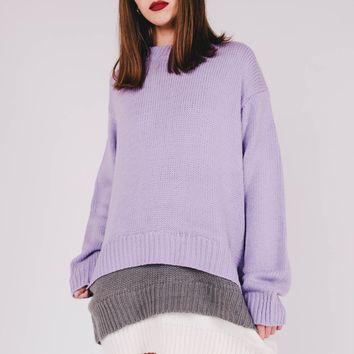 Multilayer Oversized Sweater