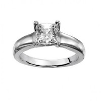 1 1/4ct tw Diamond Solitaire Engagement Ring in 14K White Gold - Designer Prototypes - Engagement Rings