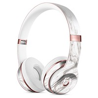 Mixtured Gray 47 Textured Marble Full-Body Skin Kit for the Beats by Dre Solo 3 Wireless Headphones