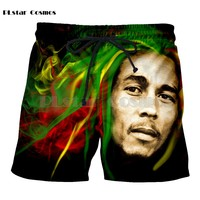 PLstar Cosmos Homme Casual Bob Marley 3D Printed hip hop style tops 3d print Men Women casual Mens shorts Print 3d drop shipping