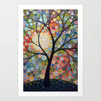 Waiting For the Moon Art Print by Amy Giacomelli