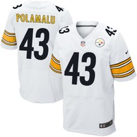 Mens Pittsburgh Steelers Troy Polamalu Nike White Elite Jersey