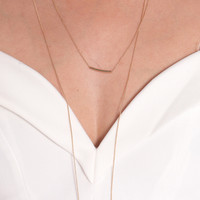 DAINTY DOUBLE LAYERED BAR NECKLACE