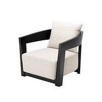 Black Pillow Back Armchair | Eichholtz Rubautelli