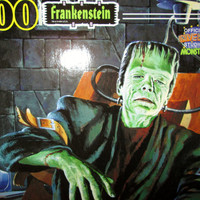 Frankenstein Monster Jigsaw Puzzle Toys MIB Vintage Large Sealed Complete NIB Universal Studios 200 Pc Halloween Spooky Collectible Gift