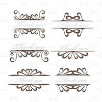 Swirly natural curls svg swirl svg silhouette svg png cuts Pattern  flower vintage curls png greeting cards , swirly frame swirly swirls