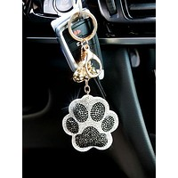 Doggy Crystal Key Chain