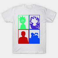 Vintage - Heroes for the Millenials - El, Rick, Goku, and Master Chief by ay_alet