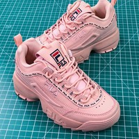 Fila Disruptor Ii 2 Pink Women's Sneakers Shoes - Best Online Sale