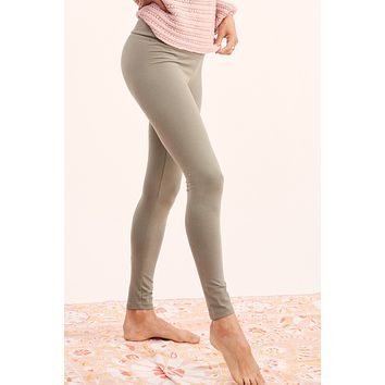 High Waisted Fold Over Leggings
