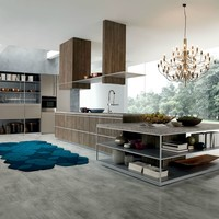 Contemporary style kitchen with island BELUGA by Rastelli | design Ferruccio Laviani