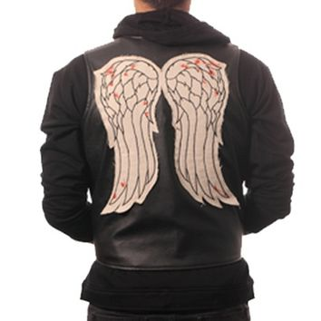 The Walking Dead Daryl Dixon Faux Leather Wing Vest