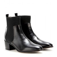 jimmy choo - hallow leather ankle boots