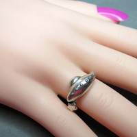 Sterling Silver 3D Sci Fi UFO Flying Saucer and Star Ring Size 6
