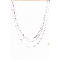 Multi Strand Cable Chain Necklace
