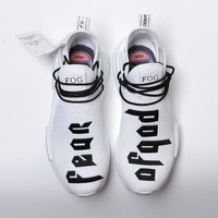 """Ready Stock"" Fear of God x adidas NMD Collab Race Boost Black&White Men Sneaker"