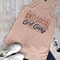 Anti-Social Girl Gang Racer Tank