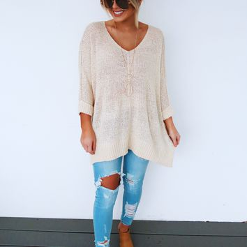 The Sweet One Sweater: Sand